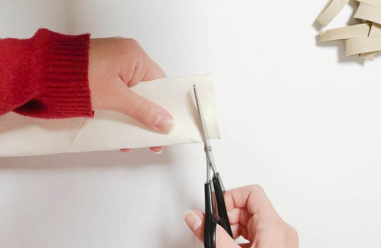 cortar el rollo de papel